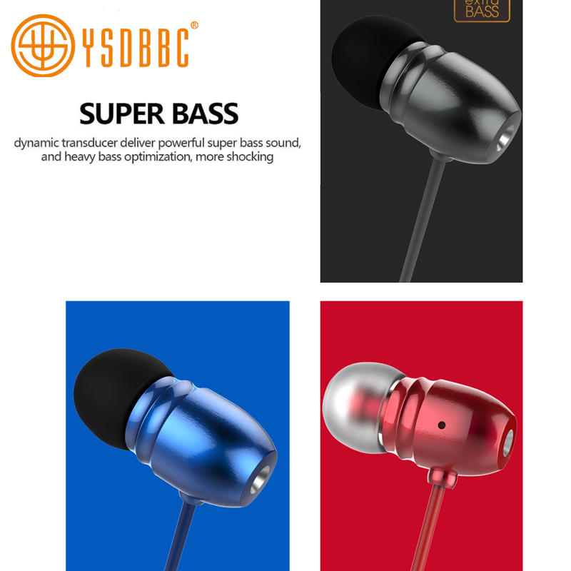 Wired Headphone Metal Earbuds by Amasing Noise Cancelling Stereo Heave Bass Earphones for iPhone 5 6 Pink Samsung M9