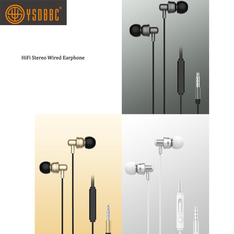Earphone with Powerful Bass and Dynamic Sound Noise Isolating Replaceable Earbuds Portable Headphones for Android IOS
