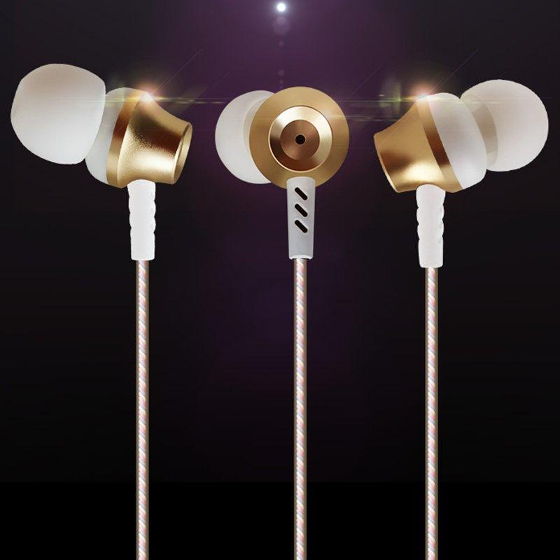 Real metal fashion style with big bass ROVSKI in-ear wired earphone L7