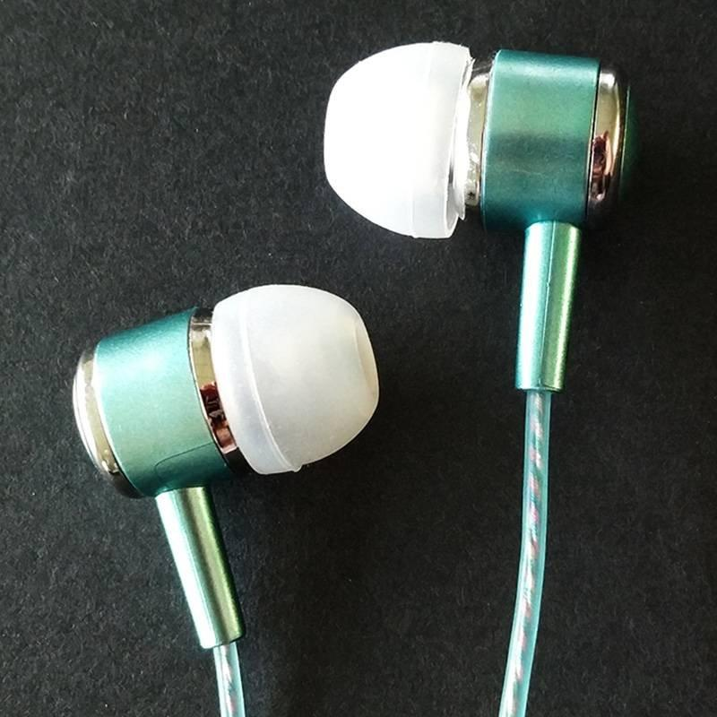 Metal pringting craftmanship ROVSKI luminous perfume wired earphone L6