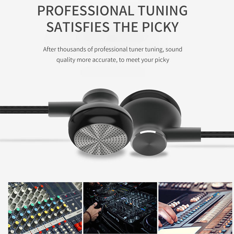 2020 Noise Cancelling Sport Stereo Metal Bass Earphones Wired Headphones with Microphone 3.5mm braided headphones Metal Earbuds